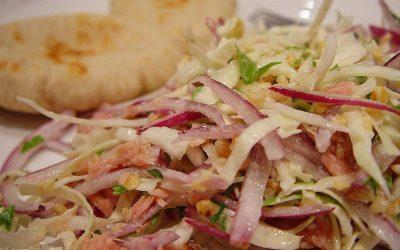 Salada de repolho e cebola