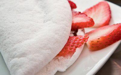 Tapioca de cottage e tomate